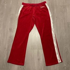 Vintage Marithe Francois Girbaud Red Velour Pants